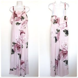 Leith pink floral rose pant jumpsuit Size XL